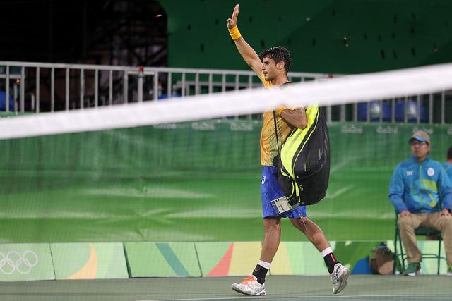 Rogerinho durante disputa da Olimpíada do Rio