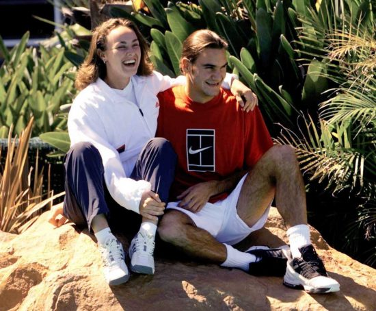Hingis e Federer na Austrália para a Copa Hopman (Trevor Collens - 30.dez.2000/Associated Press)